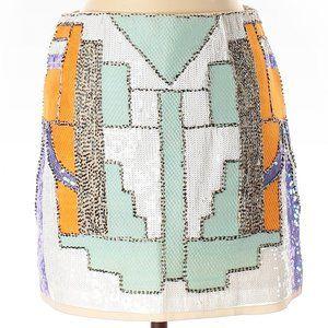 Verty willa mini sequin skirt small multicolor